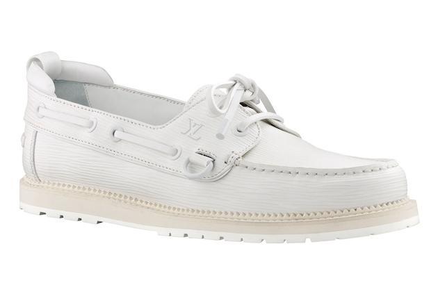 white louis vuitton boat shoes
