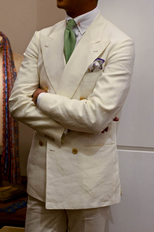 Cream Heavy Linen Double Breasted Suit – Kicks Whips & Suits